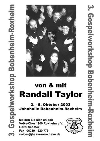 3. Gospel Workshop in Roxheim mit Randall Taylor